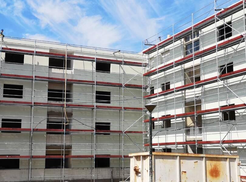 Rehabilitación de edificio mixto, comercial y residencial