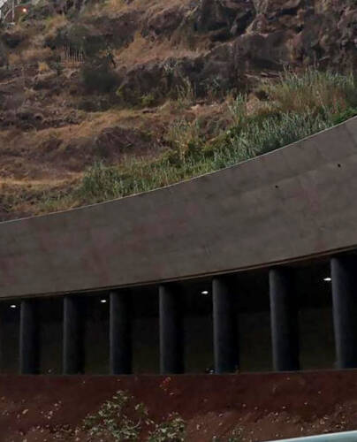 Túnel de carretera a cielo abierto, João Abel de Freitas