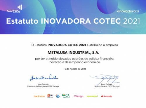 METALUSA reconocida con el Estatus de INOVADORA COTEC 2021